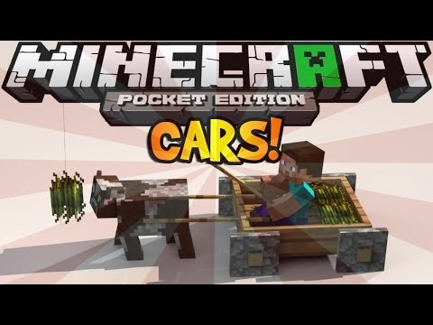 How to Make Working Cars in Minecraft Pocket Edition | No Mods