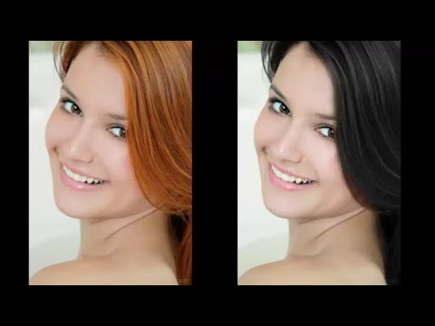 Create different hair colour effects in photoshop