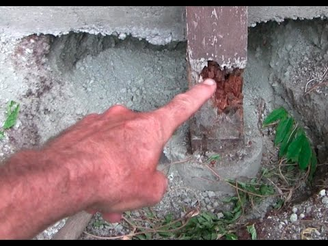 How to replace a load bearing post