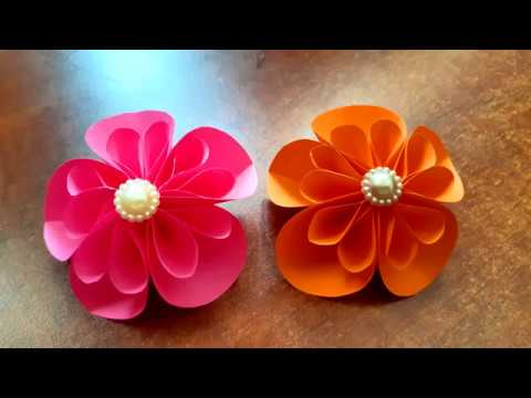 How to make Hand made Easy and simple paper flowers - 5