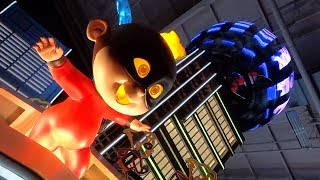 """UP CLOSE with """"The Incredibles"""" float for Paint the Night Parade at Disneyland Resort"""