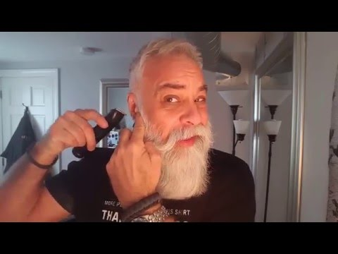 How to trim a mustache when you have a big beard