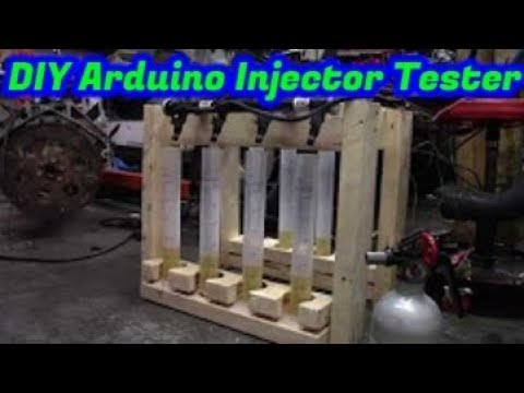 Arduino powered fuel injector flow tester.