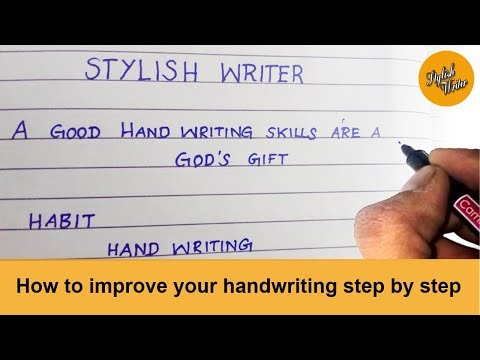 How to improve your handwriting in step by step.