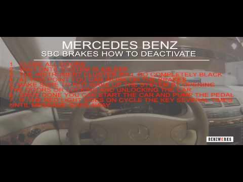 BENZWERKS SBC BRAKES HOW TO DEACTIVATE
