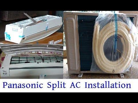 Panasonic Split AC Installation | Panasonic US18SKY-1 Inverter Air Conditioner Full Installation