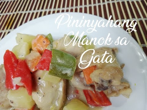 Pininyahang Manok Sa Gata (Pineapple Chicken)
