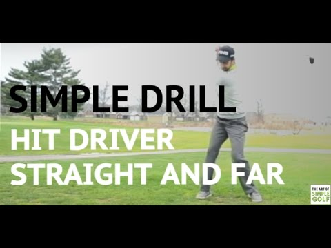 Simple Golf Drill: How to Hit Driver Straight And Far On Upswing