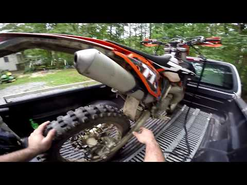 HOW TO: KTM 250 300 350 Replace Rear Brake Pads