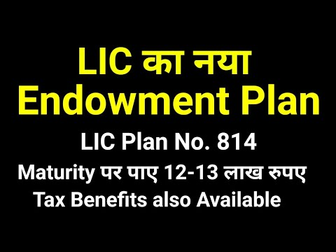 LIC Policy No. 814 New Endowment Plan (Life Insurance Corporation) in Hindi full details Best Plan