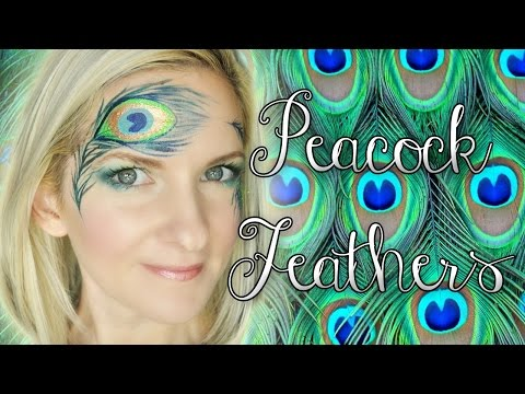 Peacock Feather Face Painting Tutorial
