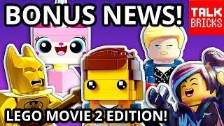 BONUS LEGO MOVIE 2 NEWS! Exclusive Figures! BrickHeadz! LEGO Ellen?! LEGO HQ?! LEGO Hot Ones? & MORE