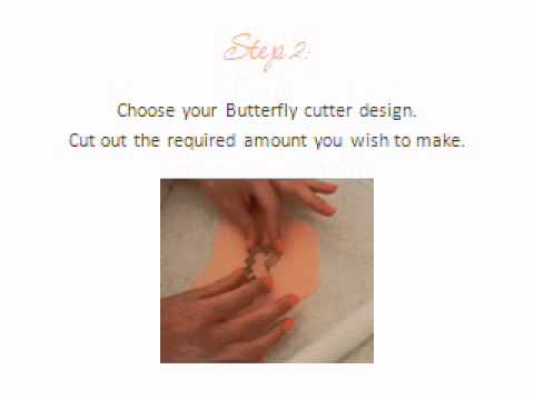 How to make fondant Butterflies