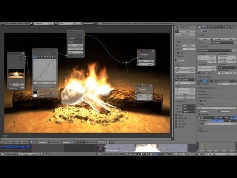 Tutorial fogata (bonfire) en blender 2/2