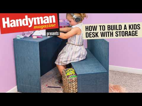 How To Build A Kid's Desk With Storage