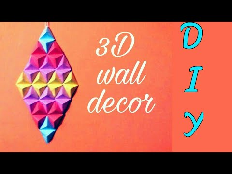 Paper craft - How to made vorigami paper pyramid | wall art - cool and creative crafts