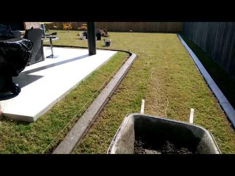 Auskerbs concrete garden edging