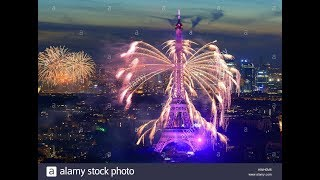 Timelapse Eiffel Tower New Year 2018 Celebration In Paris France. Amazing Video