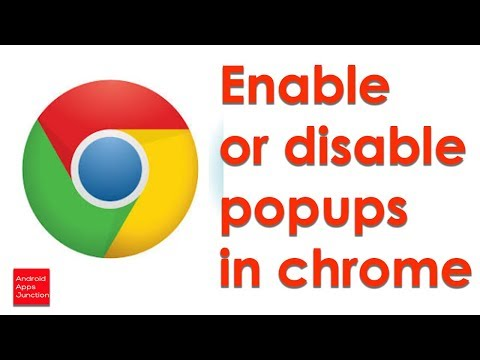How to enable or disable popups blocker in Chrome 2017