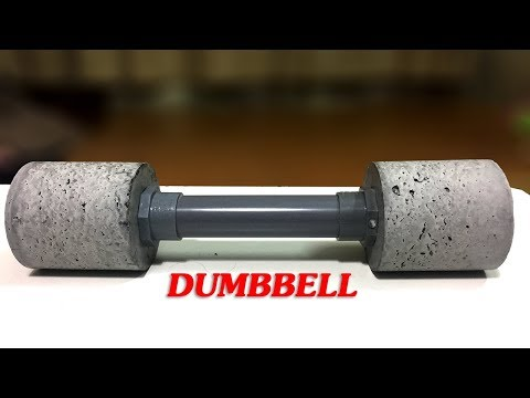DIY! HOME GYM EQUIPMENT: How to Make DUMBBELLS at Home