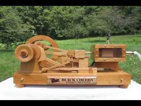 Black Cherry Wooden Air Engine