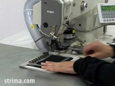 Automatic sewing flaps, collars and cuffs - Pfaff