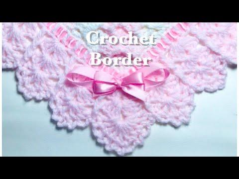 Easy Crochet border for any crochet or knit baby blanket #133