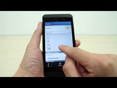 How to change your display and text size on BlackBerry Z10