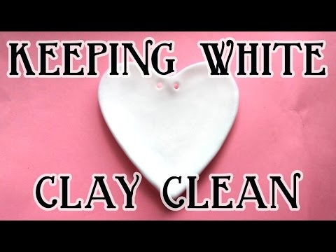 Keeping White Polymer Clay Clean