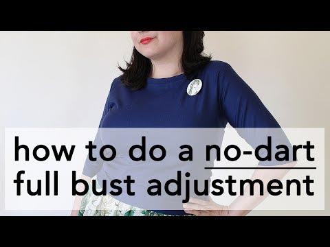 No-Dart Full Bust Adjustment Tutorial   Vintage on Tap