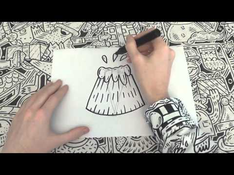 How To Doodle A Volcano