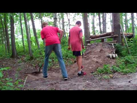 Trail building ep 5 Finishing The step down