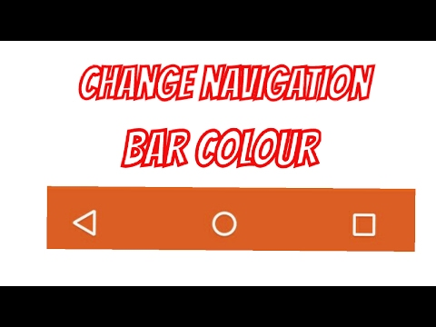 How To Change Navigation Bar Colour