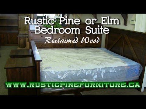 Rustic Pine Mennonite Bedroom Set, Mennonite Furniture Gallery Ajax Ontario.
