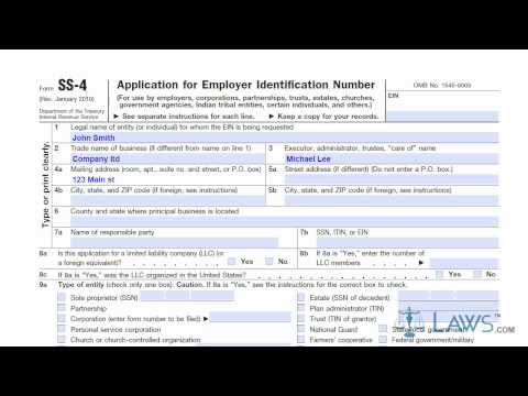 Learn How to Fill the Form SS 4 Application for EIN