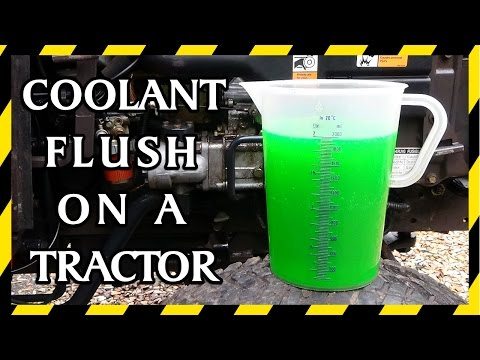 Coolant Replacement Flush on the Massey Ferguson 1220 Tractor