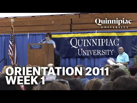 Quinnipiac University Orientation 2011- Week 1