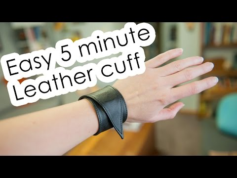 5 minute leather cuff DIY | Kris Kandel