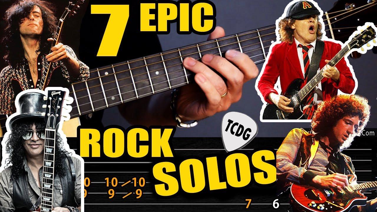 Aprende 7 grandiosos SOLOS de la historia del rock en guitarra acústica
