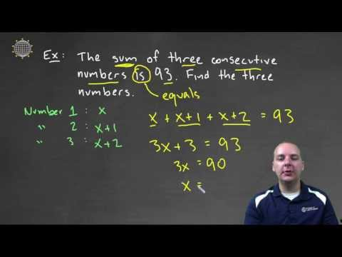 Consecutive Integers Sum: Example 1