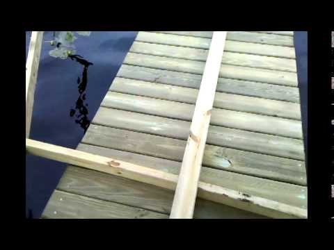 Dock building by hand
