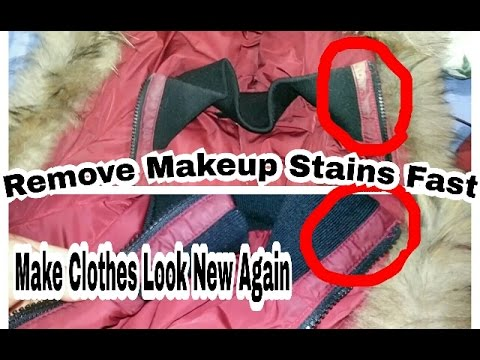 Cleaning tip: How to Remove Makeup From Designer Jacket or Clothes Easy