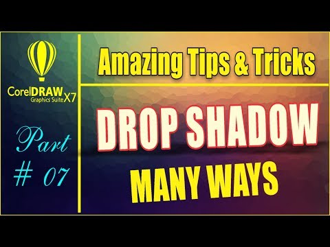 Coreldraw x7  Amazing Tips & tricks - How To Use Drop Shadow Tool With New Way Urdu/hindi