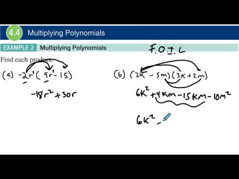 4.4 Example 2 Multiplying Polynomials