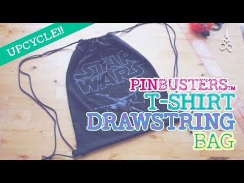 How To Make A No-Sew T-Shirt Drawstring Backpack // DOES THIS PIN REALLY WORK?