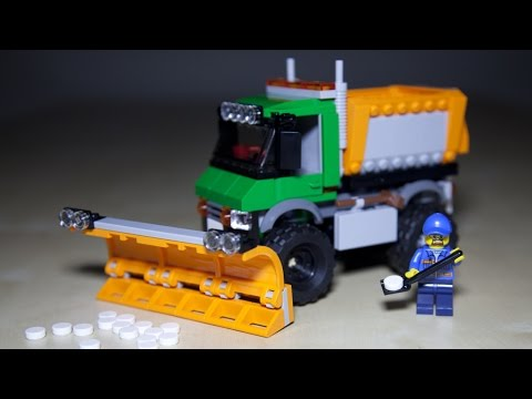 Lego City 60083 Snowplow Truck - Lego Speed Build Review