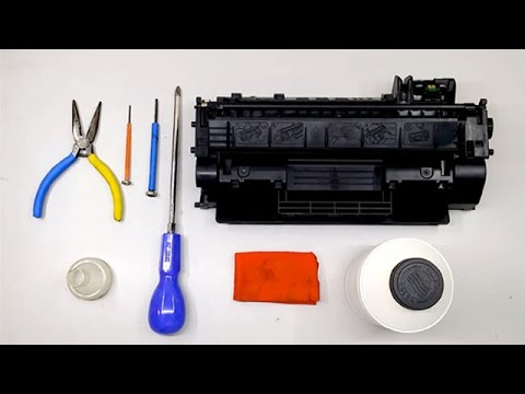 How to refill toner cartridge Hp80a/ Hp05a/ Canon119 🖨️ Hp M400 MFP M401 M425 HP 2035 Canon 5950💡