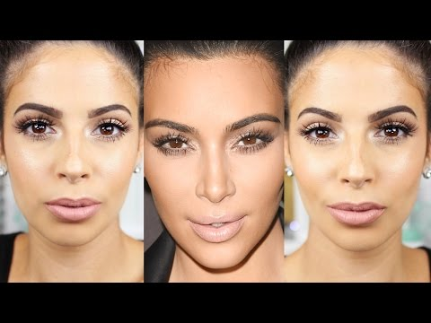 Kim Kardashian Makeup Tutorial 2015  Glowing Skin