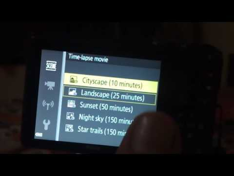 How to start time laps video in Nikon B700 and other camera