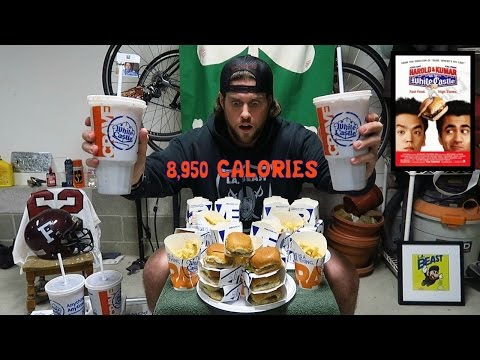 THE HAROLD & KUMAR WHITE CASTLE CHALLENGE (8,950 Calories) | L.A. BEAST